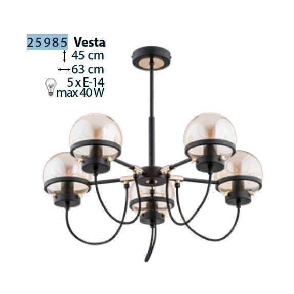 Lampa mora chrome V