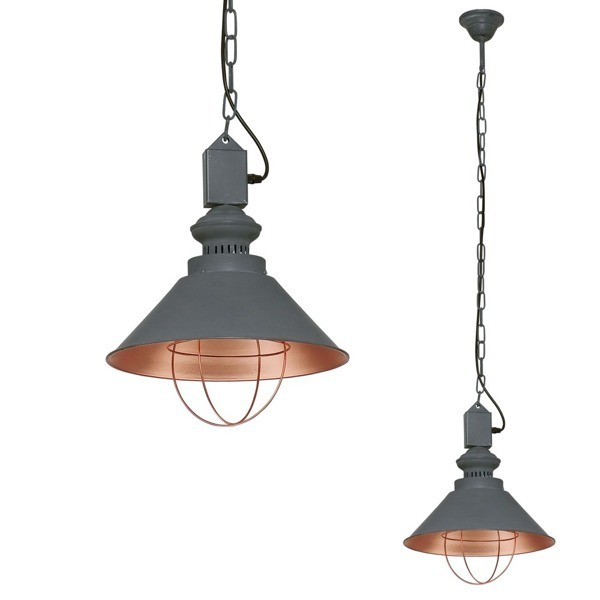 Lampa LOFT taupe I zwis 140cm