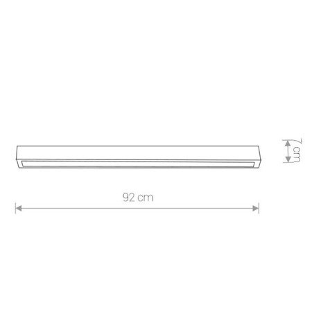 Lampa STRAIGHT LED graphite M ceiling 92cm
